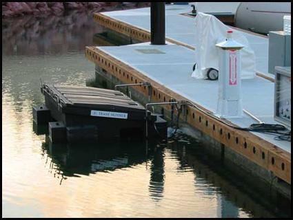 Marina Trash Skimmer stops water pollution